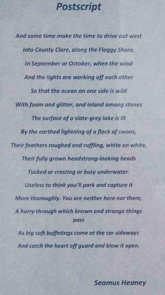 poème de Seamus Heaney